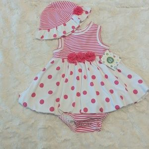 Little Me Onesie Dress with Hat
